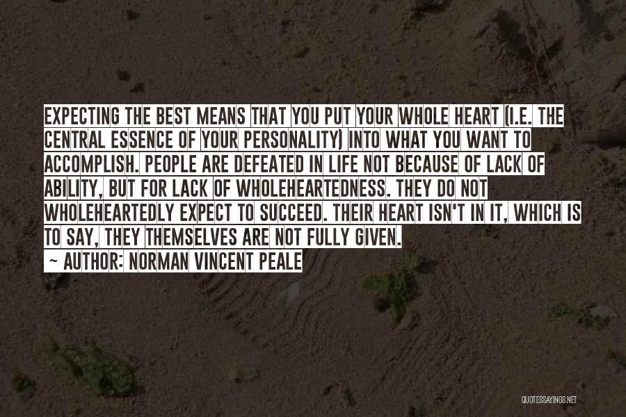We Heart It Motivational Quotes By Norman Vincent Peale