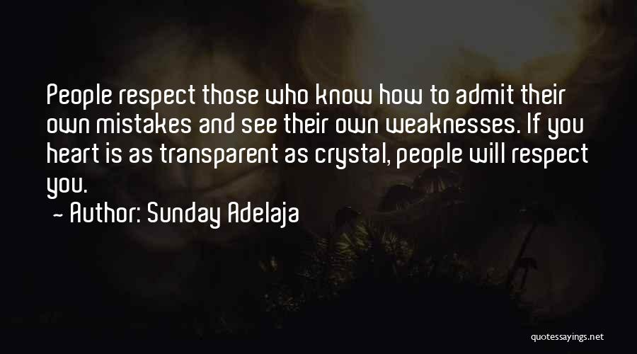 We Heart It Transparent Quotes By Sunday Adelaja