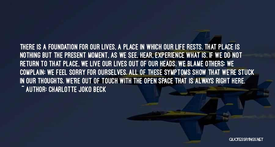 We Live For Others Quotes By Charlotte Joko Beck