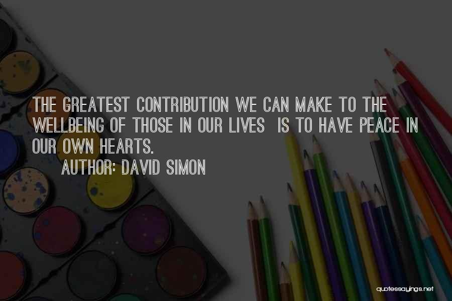 We Make Our Own Life Quotes By David Simon