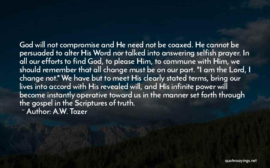 We Meet To Part Quotes By A.W. Tozer