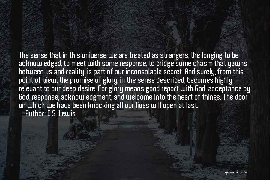 We Meet To Part Quotes By C.S. Lewis