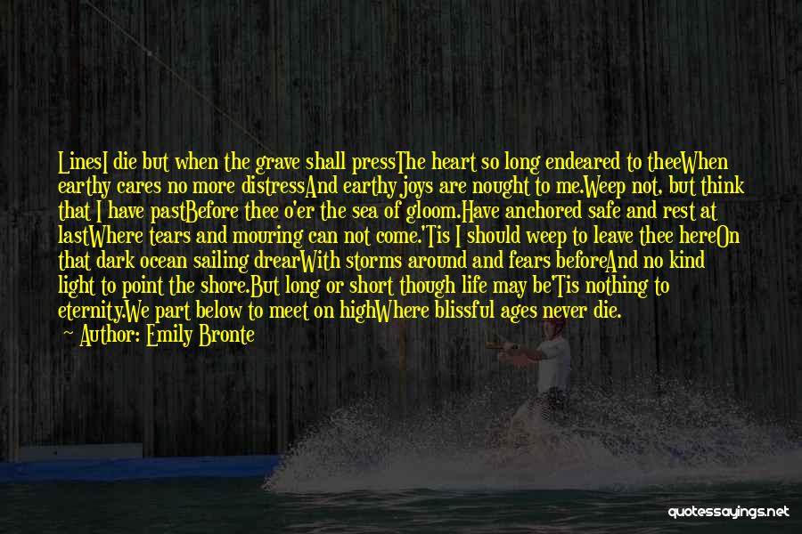 We Meet To Part Quotes By Emily Bronte