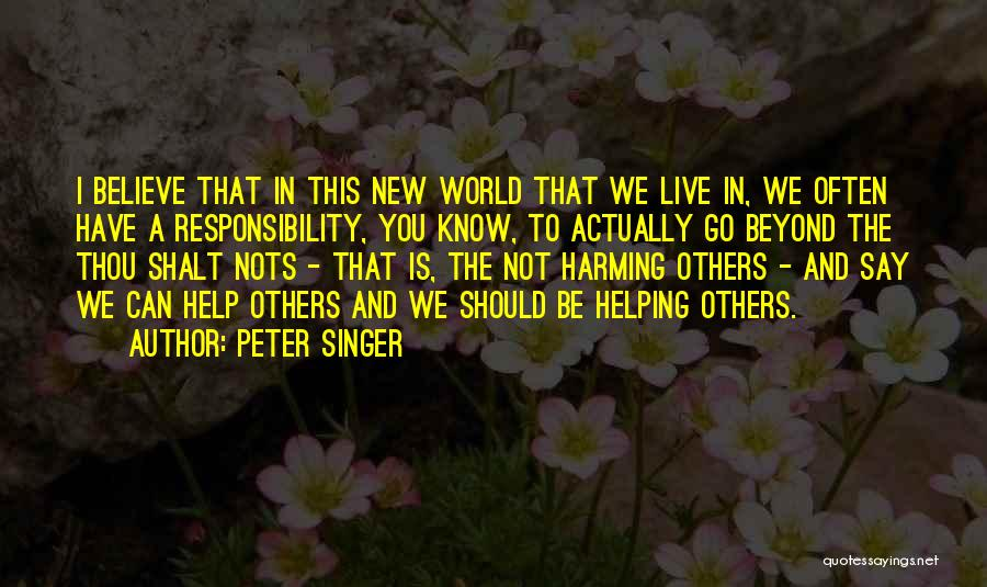 We Should Help Others Quotes By Peter Singer