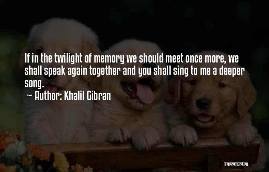 We Should Meet Quotes By Khalil Gibran