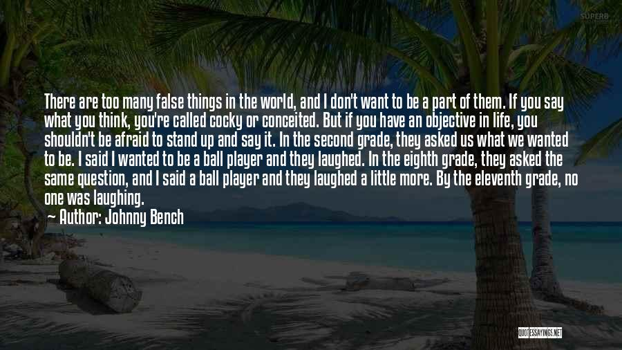 We Stand By You Quotes By Johnny Bench