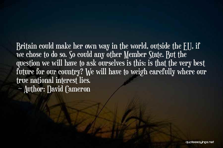 We Will Do Our Best Quotes By David Cameron