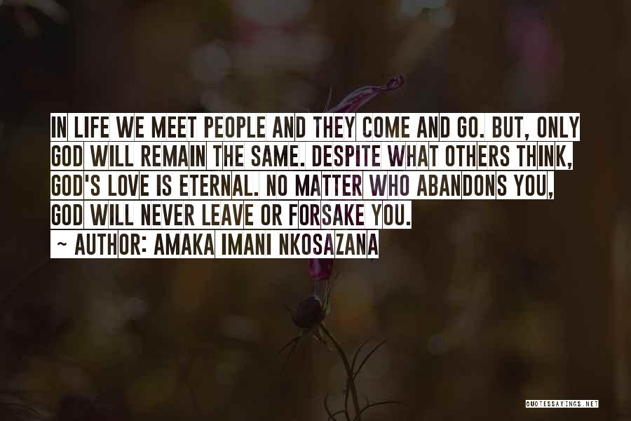 We Will Never Meet Quotes By Amaka Imani Nkosazana