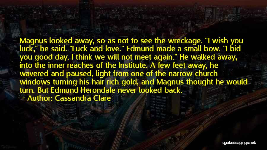 We Wish You Good Luck Quotes By Cassandra Clare
