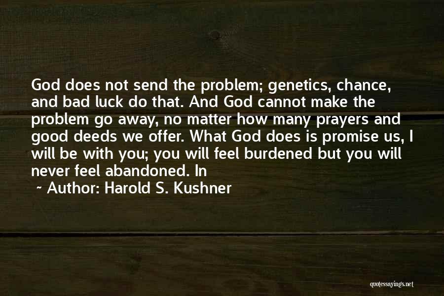 We Wish You Good Luck Quotes By Harold S. Kushner