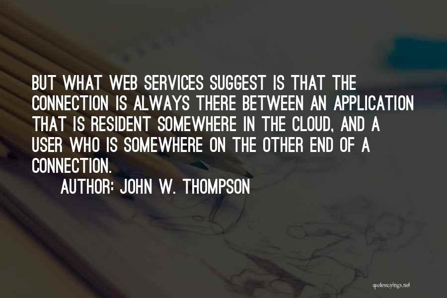 Web Application Quotes By John W. Thompson