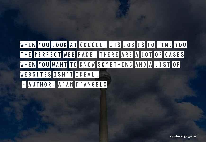 Web Page Quotes By Adam D'Angelo