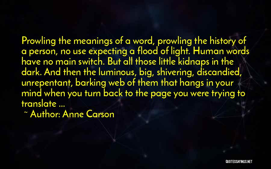 Web Page Quotes By Anne Carson