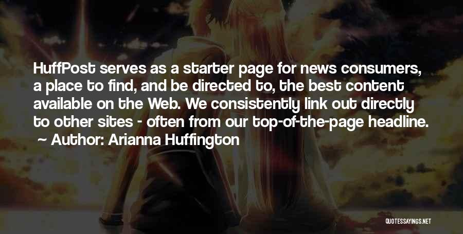 Web Page Quotes By Arianna Huffington
