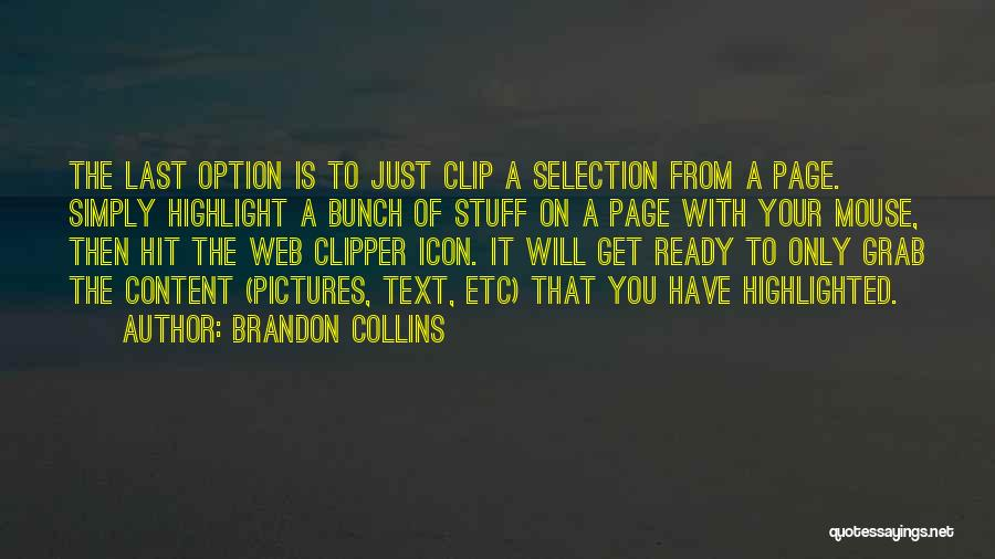 Web Page Quotes By Brandon Collins
