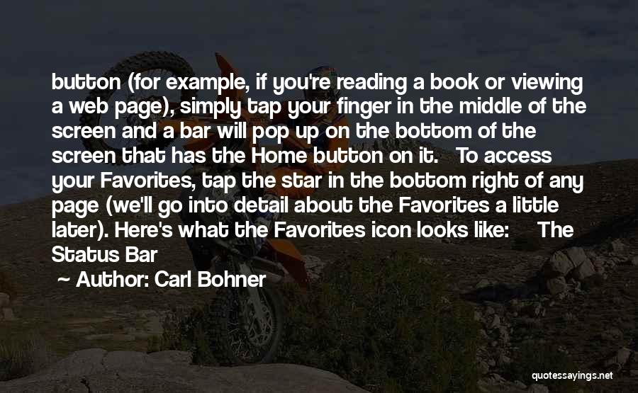 Web Page Quotes By Carl Bohner