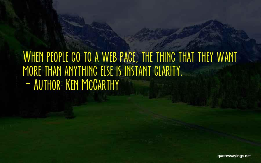 Web Page Quotes By Ken McCarthy