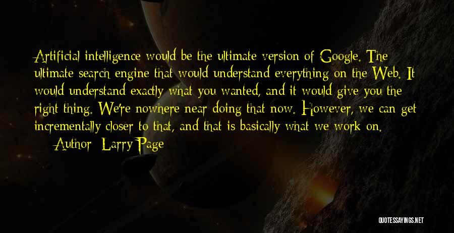 Web Page Quotes By Larry Page