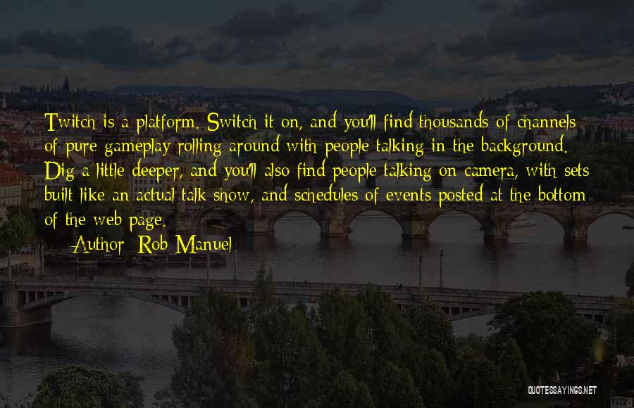 Web Page Quotes By Rob Manuel