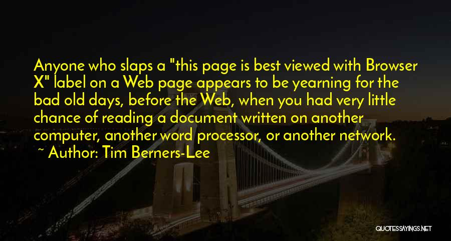Web Page Quotes By Tim Berners-Lee