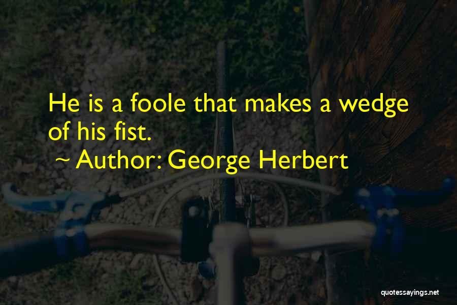 Wedge Quotes By George Herbert
