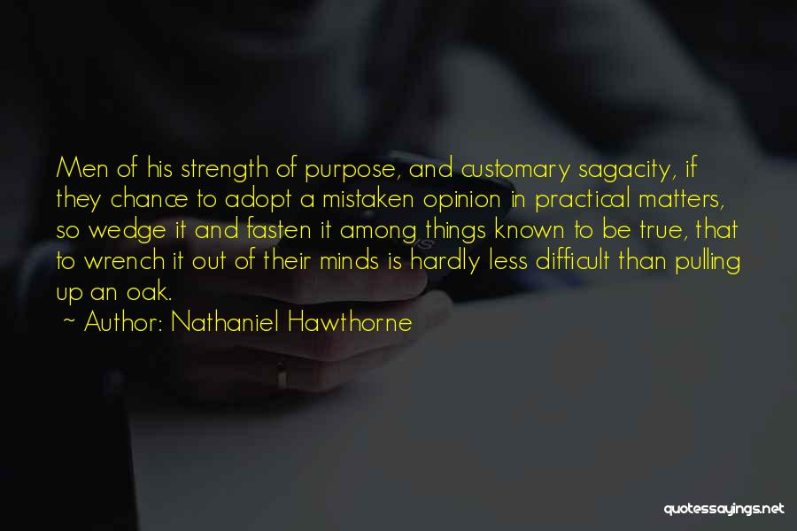 Wedge Quotes By Nathaniel Hawthorne