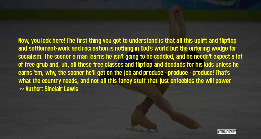 Wedge Quotes By Sinclair Lewis