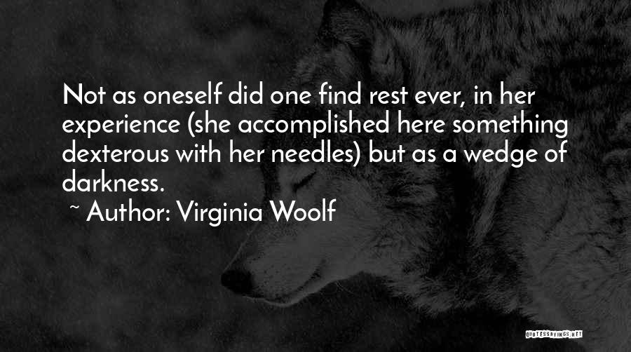 Wedge Quotes By Virginia Woolf