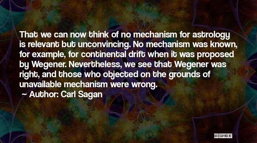 Wegener Quotes By Carl Sagan