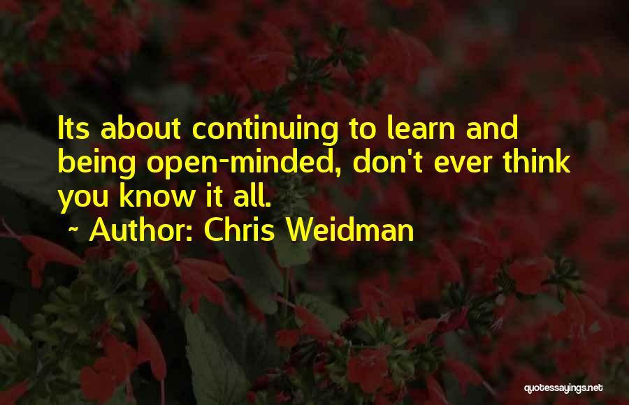 Weidman Quotes By Chris Weidman