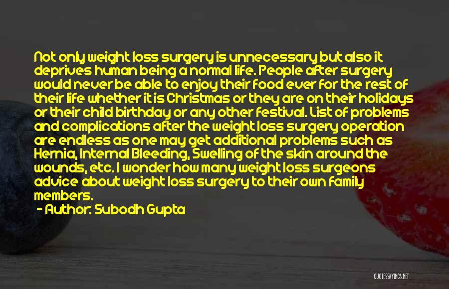 Weight Loss Surgery Quotes By Subodh Gupta