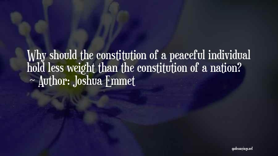 Weight Of The Nation Quotes By Joshua Emmet