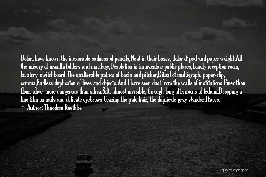 Weight Room Quotes By Theodore Roethke