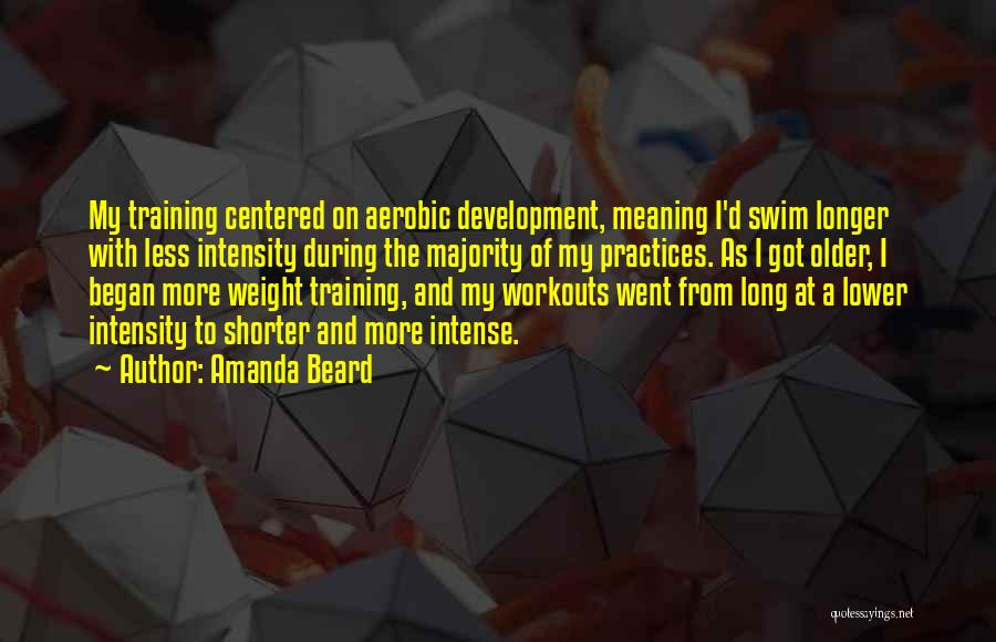 Weight Training Quotes By Amanda Beard