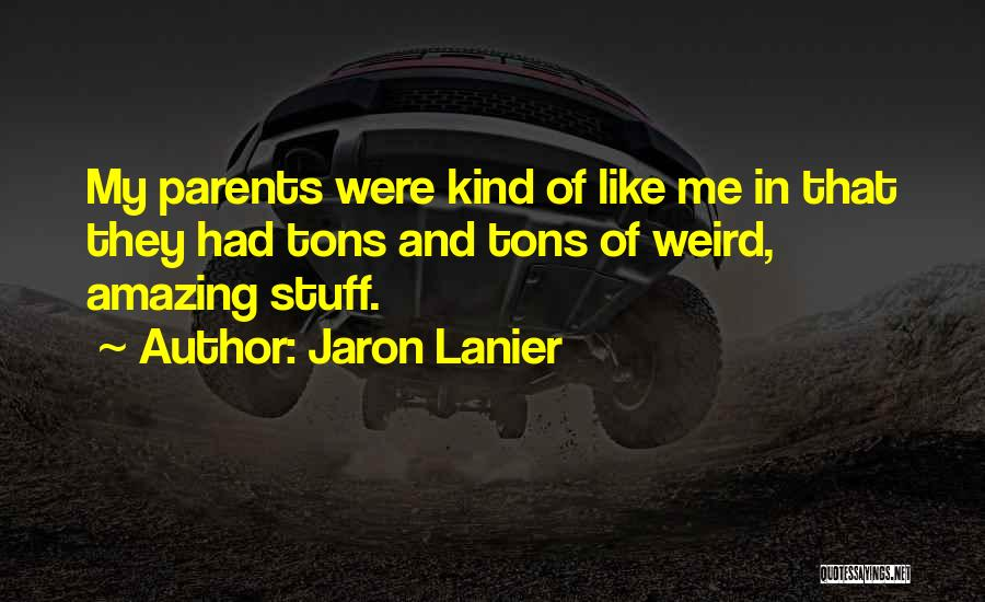 Weird But Amazing Quotes By Jaron Lanier