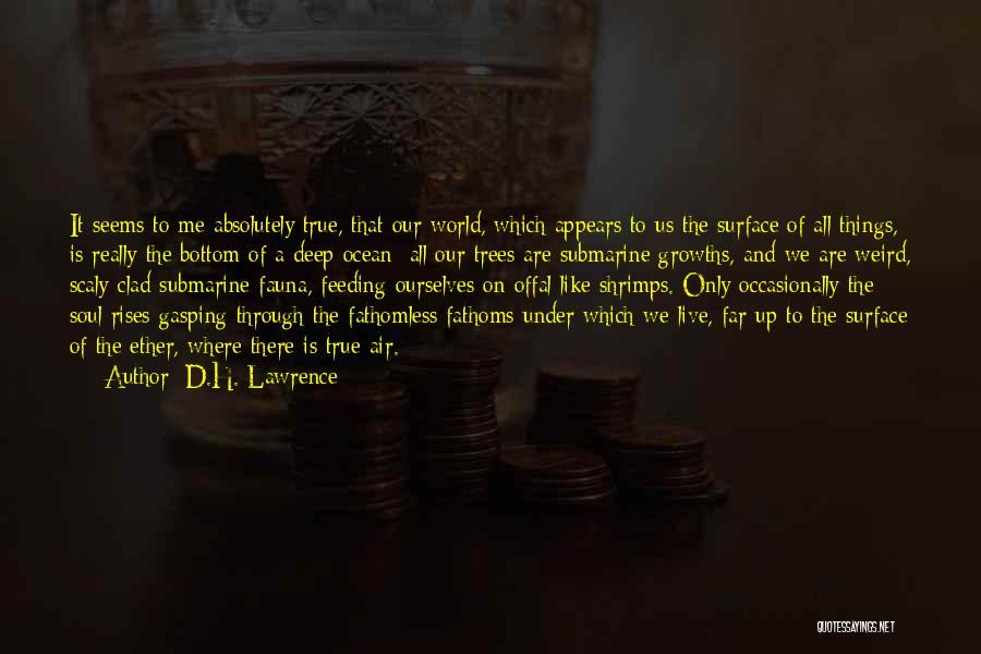 Weird But Deep Quotes By D.H. Lawrence