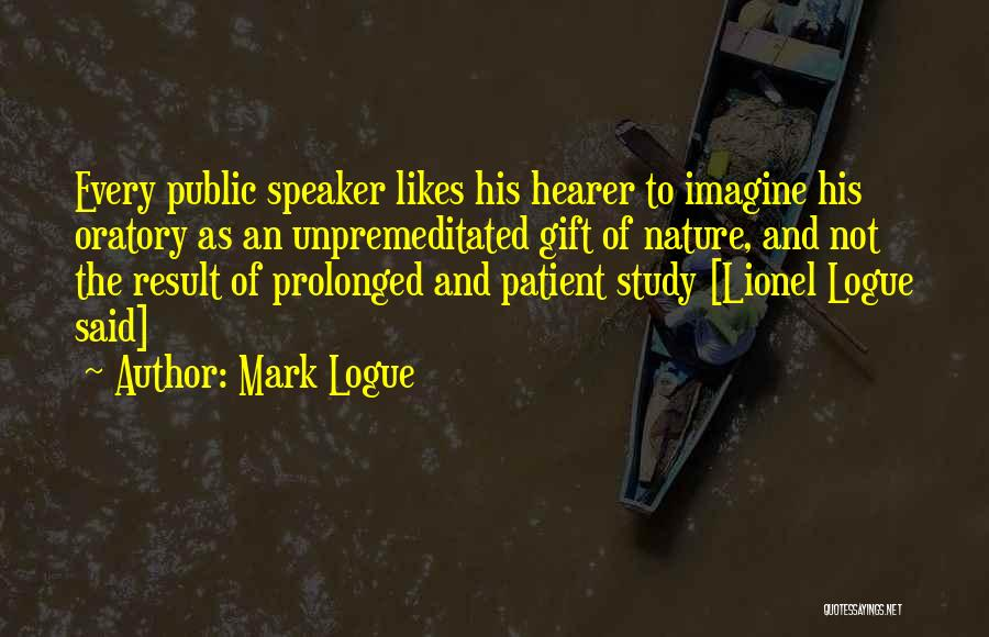 Welcome Speech Quotes By Mark Logue