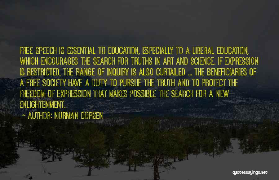 Welcome Speech Quotes By Norman Dorsen