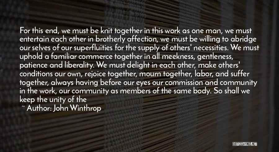 We'll Always Be Together Quotes By John Winthrop