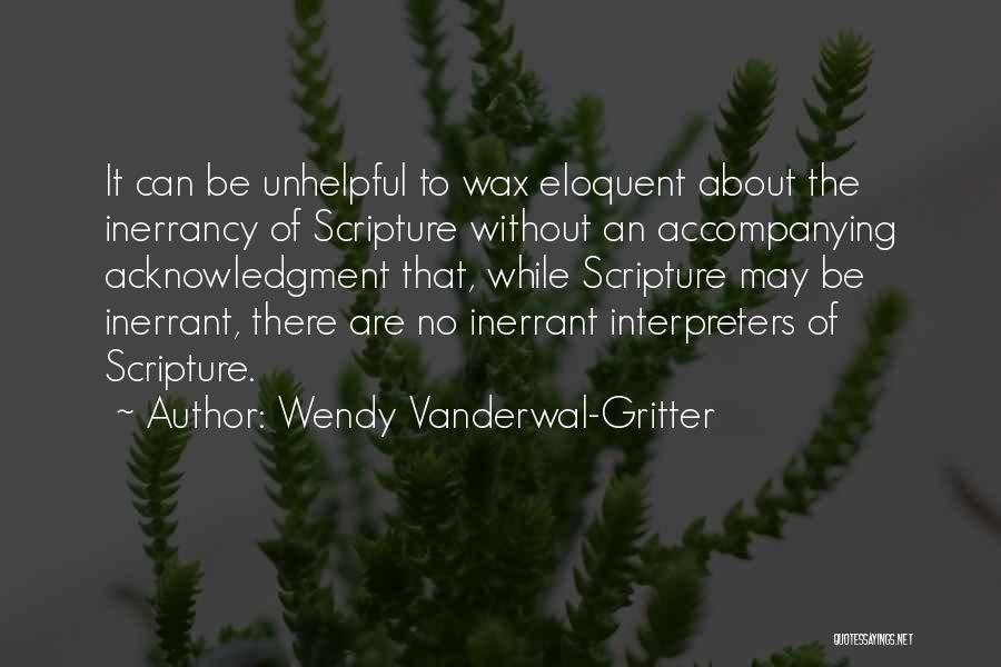Wendy Vanderwal-Gritter Quotes 956575