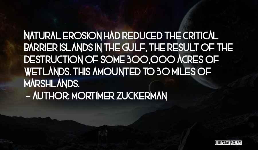 Wetlands Quotes By Mortimer Zuckerman