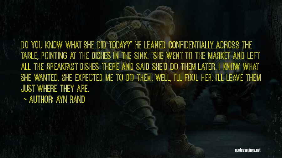 What Did You Do Today Quotes By Ayn Rand