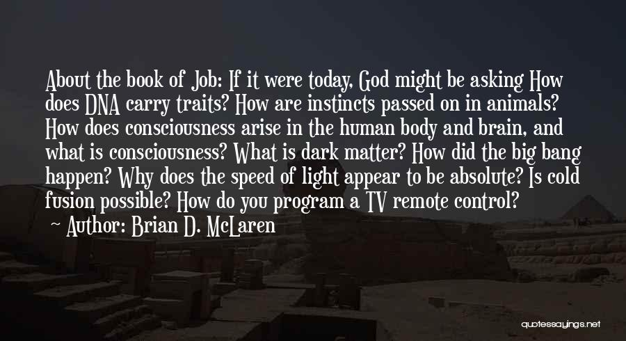 What Did You Do Today Quotes By Brian D. McLaren