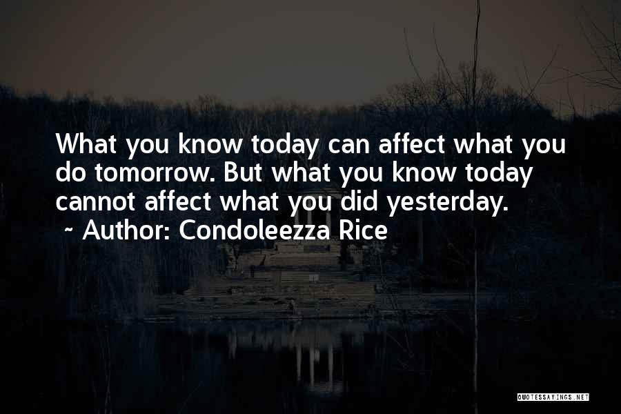 What Did You Do Today Quotes By Condoleezza Rice