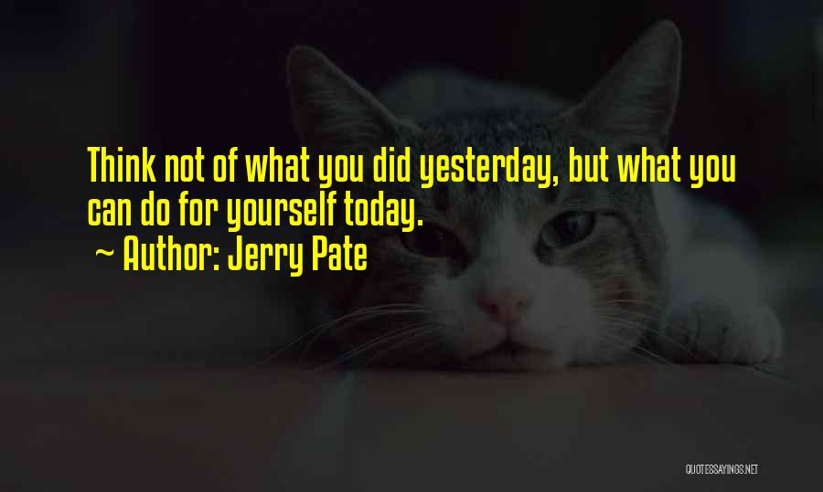 What Did You Do Today Quotes By Jerry Pate