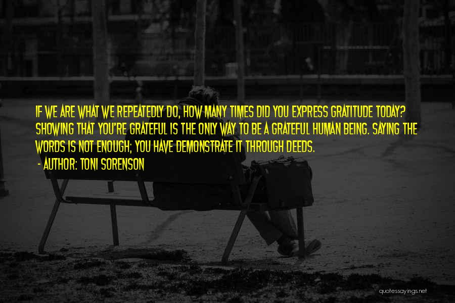 What Did You Do Today Quotes By Toni Sorenson
