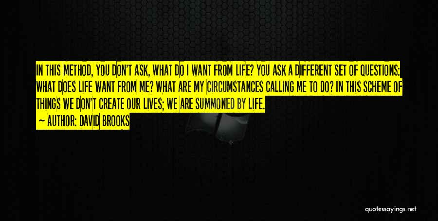 What Do You Want Quotes By David Brooks