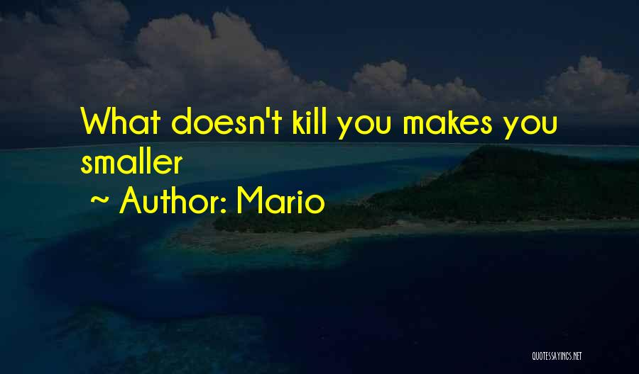What Doesn't Kill U Quotes By Mario