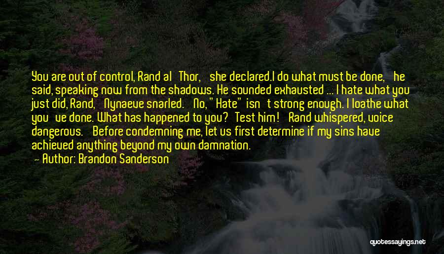 What Have I Done Now Quotes By Brandon Sanderson