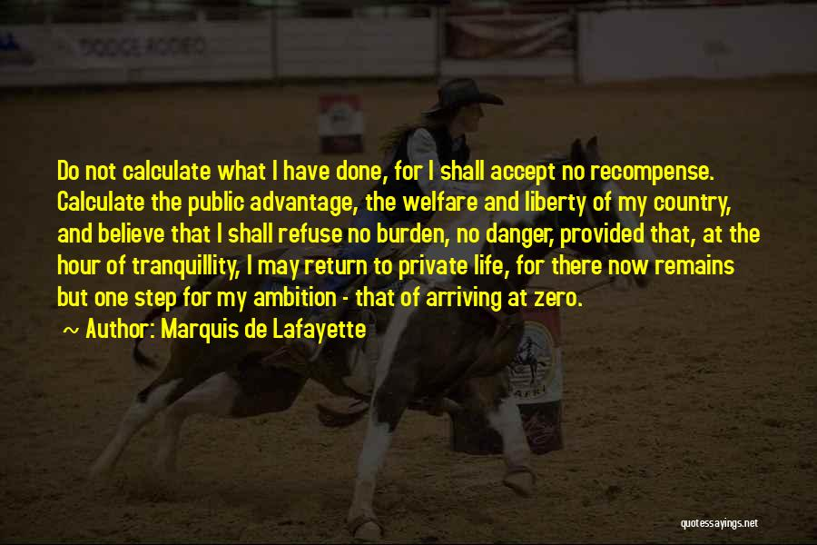 What Have I Done Now Quotes By Marquis De Lafayette